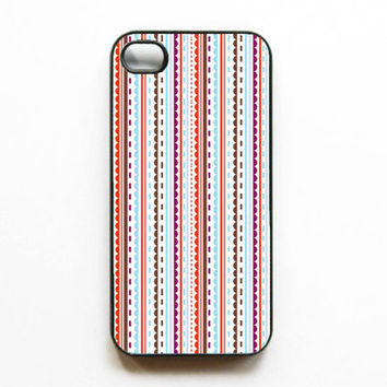 Iphone Case Pretty Patterns Red Lines Cute Beautiful by MursBlanc