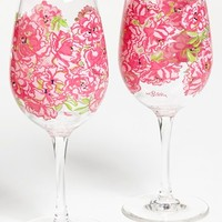 Lilly Pulitzer® Floral Print Acrylic Wine Glasses (Set of 2) | Nordstrom