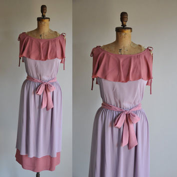 vintage Le Plume purple and pink goddess by simplicityisbliss