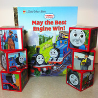 Thomas the Train Building Blocks And Matching Book
