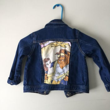 Vintage Beauty And The Beast Denim Girls Jacket