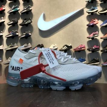 OFF WHITE x Nike Air VaporMax 2018 White AA3831-000 Sport Running Shoes - Best Online Sale