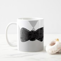 Fun Black Bow-tie art Coffee Mug