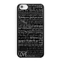 The Beatles Song Lyric iPhone 5C Case