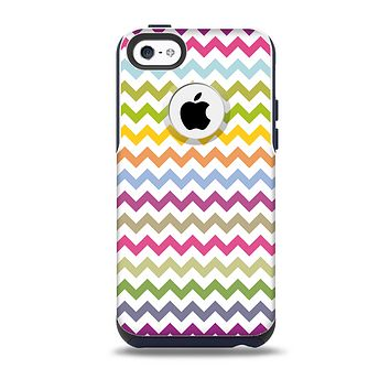 The Colorful Chevron Pattern Skin for the iPhone 5c OtterBox Commuter Case