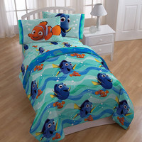 "Disney Finding Dory ""Splashy"" Soft Comforter with Bed Sheets 4 Piece Set - Twin"
