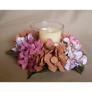 Candle wreath floral arrangement flower centerpiece Easter home decor Spring Equinox Ostara