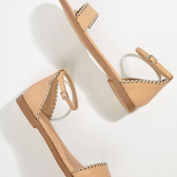 Missguided Studded Flat Sandals at asos.com