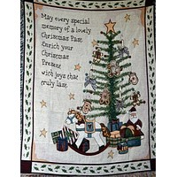 Tache Merry Christmas Morning Tapestry Throw (2271)