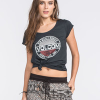 Volcom Wanderer Womens Tee Black  In Sizes