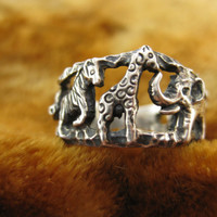 Ring  Size 7  Sterling Silver  Animal Ring  by Worldwideoddities