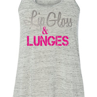 Lip Gloss & Lunges Flowy Tank
