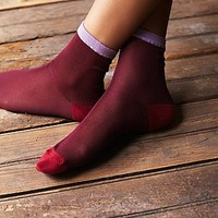 Free People Womens Anastasia Sheer Crew Sock