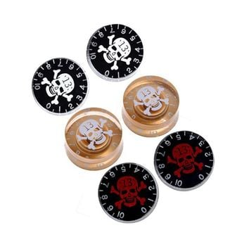 Skull Head Electric Guitar Knob Tone Volume Control for Gibson Les Paul Guitar Replacement - Price for 1 piece
