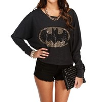 Charcoal Studded Batman Sweatshirt