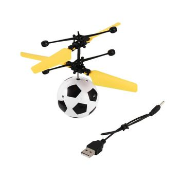 YKS RC Flying Ball Drone Toys Helicopter Soccer Ball Built-in Shining LED Lighting for Kids Camouflage Colorful Flyings Balls