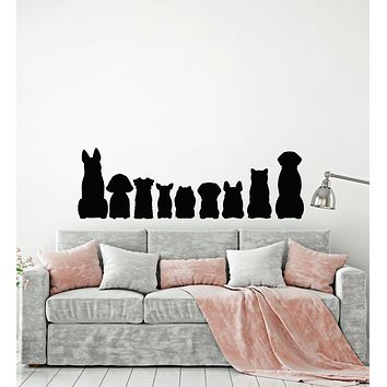 Vinyl Wall Decal Pets Dog Silhouette Animals Children Room Stickers Mural (g840)
