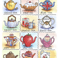 A Dictionary Of Tea Linen Union Tea Towel A Dictionary Of Tea Linen Union Tea Towel : Irish Tea Towels and Kitchen Textiles, www.irishteatowels.com