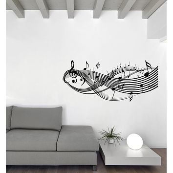 Vinyl Decal Wall Music Theme Notes Musical Signs Art Sticker Unique Gift (n1186)