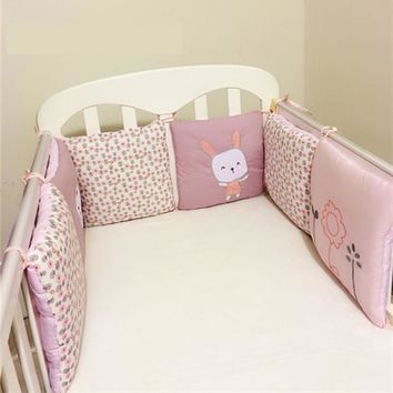 Infant Crib Bumper Bed Protector Baby Kids Cotton Cot Nursery bedding 6 Pcs/8Pcs/10Pcs/12Pcs/14Pcs Squqre Shape rabbit Bumpers