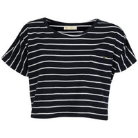 Brave Soul Women's Sally T-Shirt - Navy 			Womens Clothing | TheHut.com