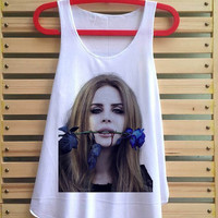lana del rey shirt lana del rey tank top singlet clothing vest tee tunic vintage style - size S M