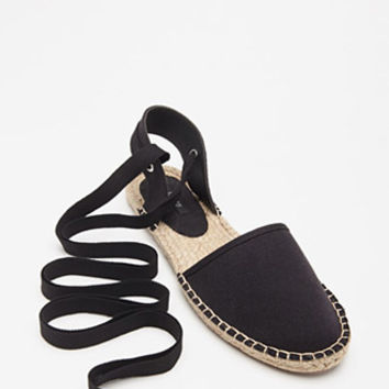 Lace-Up Espadrille Flats