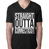 Straight Outta Connecticut V Neck T Shirt