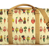 Fruits Girls Printed Oversized Canvas Duffle Luggage Travel Bag WAS_42