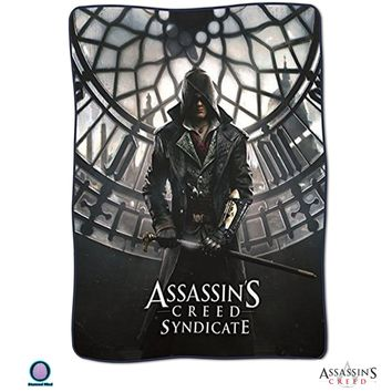 Assassin's Creed Syndicate OFFICIAL Snug & Warm Decorative Fleece Throw Wall Hanging Tapestry Blanket with Gunslinger Jacob Frye