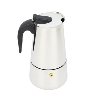 New 2/4/6/9 Cups Stainless Steel Coffee Maker Latte Percolator Moka Pot Espresso Stove Top Pot Portable Automatic Machine