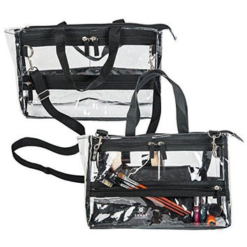 SHANY Clear Travel Makeup Bag - Cosmetics Organizer - Game Changer