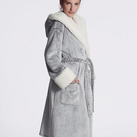 Luxury Hooded Shimmer Dressing Gown