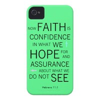 Hebrews 11:1 iPhone case