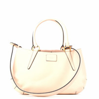 Fendi Leather And Suede Handbag Beige