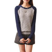 Spring & Autumn Women's Sweater Female Warm Wool Blend Knitting Pullover Knitted Women Sweaters and Pullovers Outerwear