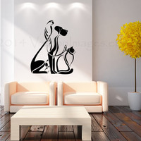 Animals all mixed up wall decal, vinyl decal, wall art