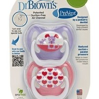Dr. Brown's - PreVent Orthodontic Pacifiers Butterfly 0-6m - 2 Pack