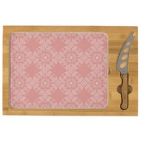 Dusty Pink Floral Pattern Rectangular Cheeseboard
