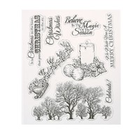 Christmas Wishes Transparent Clear Silicone Stamp/Seal for DIY scrapbooking/photo album Decorative Clear Stamp Sheets