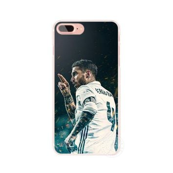 Captain Real Madrid Sergio Ramos Case Cover For Iphone 5 6 7 8 8 Plus X 10 Apple