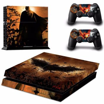 Batman PS4 Skin Sticker for Playstation 4 Console + 2 Controller Skins