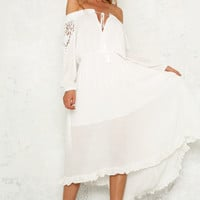 Monegasque Maxi Dress White