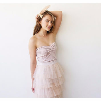 Pink Ballerina Strapless Stretchy Top