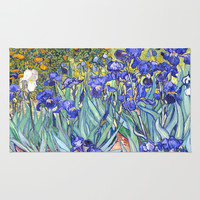 Vincent Van Gogh Irises  Rug by Art Gallery
