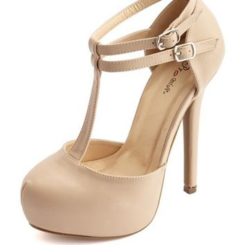 DOUBLE ANKLE-STRAP PLATFORM PUMP