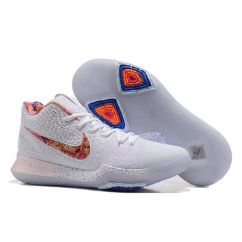 Best Deal Online Nike Kyrie Irving 3 PE Men Basketball Sneaker White Red Sports Shoes