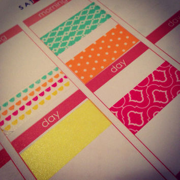 K1 Washi Stickers for Erin Condren Life Planner or Plum Paper Planner