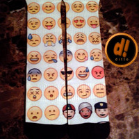 EMOJI CRAZY Sock Swagger Custom Crew Socks! FAST Shipping With Free Order Tracking