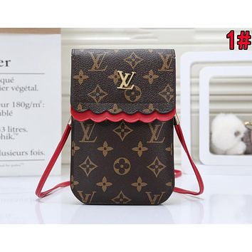 LV Louis Vuitton Newest Women Leather Crossbody Satchel Shoulder Bag Mobile Phone Package 1#